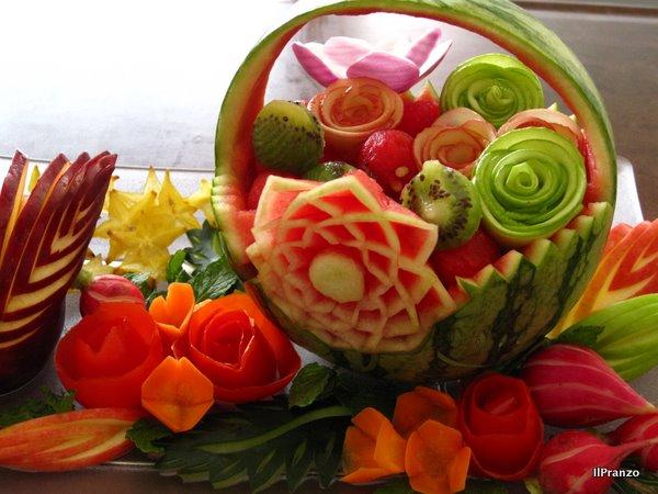 El arte mukimono o decoraci n de frutas y verduras bodegas mezquita - Cuchillos para decorar fruta ...