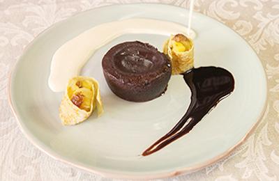 Imagen Cena de Nochevieja en Bodegas Mezquita.  Coulant de chocolate